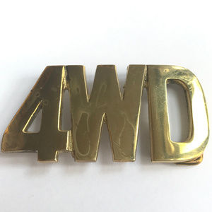 Other - Vintage Original Solid Brass 4WD Belt Buckle